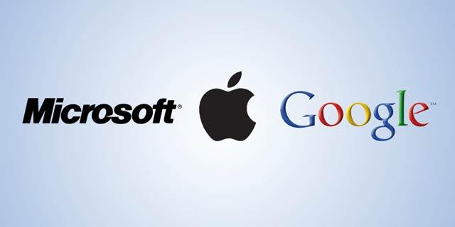 La palme revient à Google, Apple et Microsoft en 2013