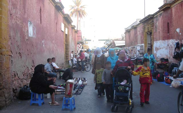 Evacuation de l espace public à Mohammedia