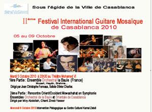 Festival Guitare Mosaïque : Casablanca fait résonner les guitares