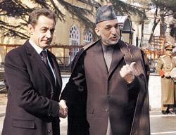 Nicolas Sarkozy se rend en Afghanistan