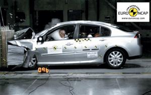Sécurité  : EuroNCAP : 5 étoiles pour la Mazda2 et la Laguna III