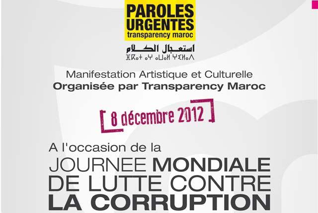 Événement  à Casablanca : «Paroles urgentes» : Pour dire  non à la corruption