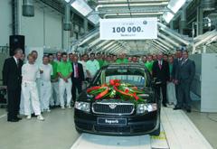 Automobile : Skoda auto produit la 100.000ème unité de la superb