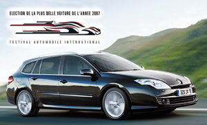 Renault Laguna III Estate : Elue «Plus belle voiture de l'année 2007»