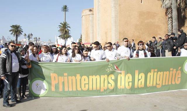 Rabat: une marche blanche contre la violence à l'égard des femmes