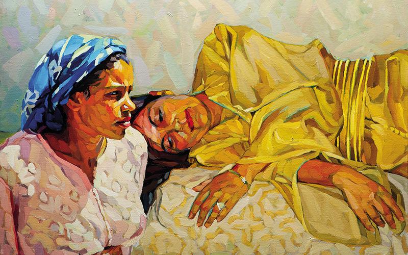 Les œuvres de Rachid Sebti  à Amadeus Art Gallery