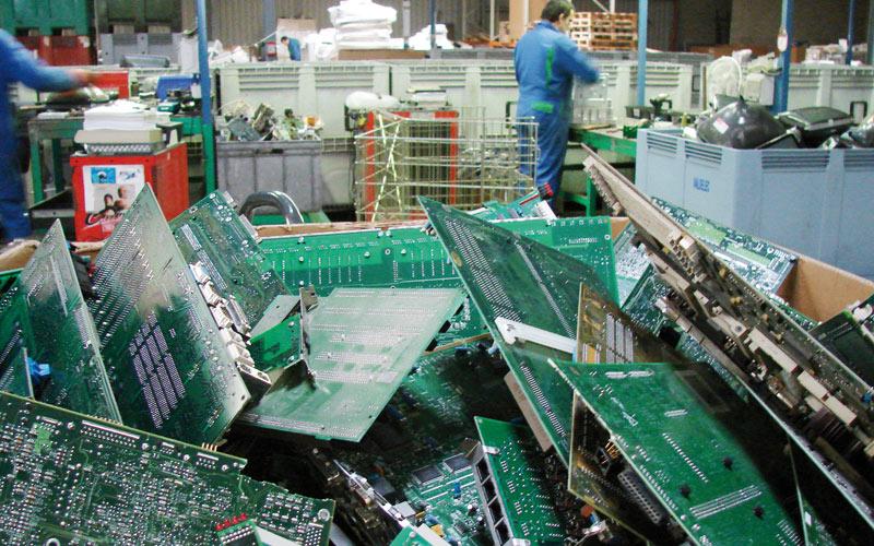 Pour le recyclage du matériel informatique