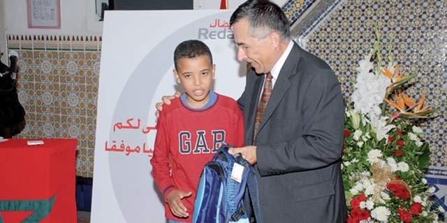 Rentrée scolaire : Redal au chevet des enfants  de la maison Akkari à Rabat