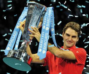 Roger Federer clôt sa saison en beauté dans le Masters