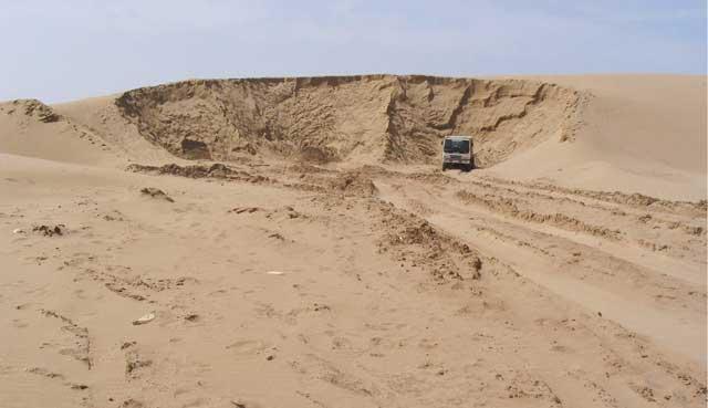 Les producteurs de sable  menacent  de faire grève