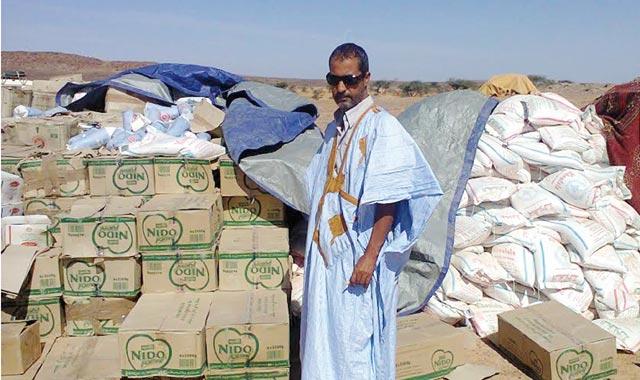 Mustapha Salma achemine des aides à Tindouf