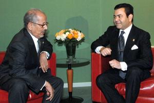 SAR le Prince Moulay Rachid reçoit le chef d'Etat mauritanien