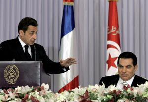 Le faux pas de Sarkozy en Tunisie