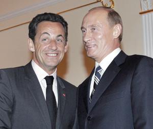 Sarkozy exhorte Poutine à allier grandeur et responsabilité