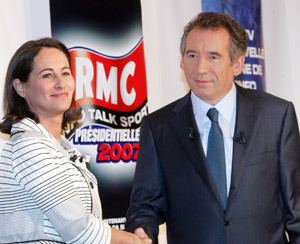 Ségolène entre Hollande et Bayrou