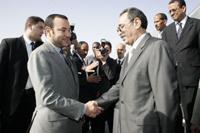 SM le Roi reçoit le président mauritanien
