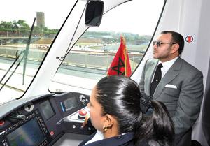 Activités royales : SM le Roi inaugure le Tramway Rabat-Salé