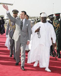 La visite royale, une fête en Gambie