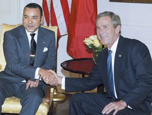 Sahara : Le président Bush salue les efforts de S.M le Roi