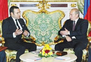 Vladimir Poutine en visite au Maroc