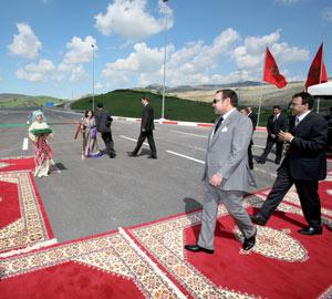 Inauguration de l'autoroute de desserte du port Tanger-Med