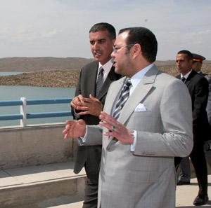 SM le Roi inaugure le barrage Hassan II à Midelt