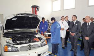 SM le Roi inaugure un Institut technologique à Sidi Moumen
