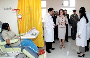 Un hôpital de jour de chimiothérapie à Rabat
