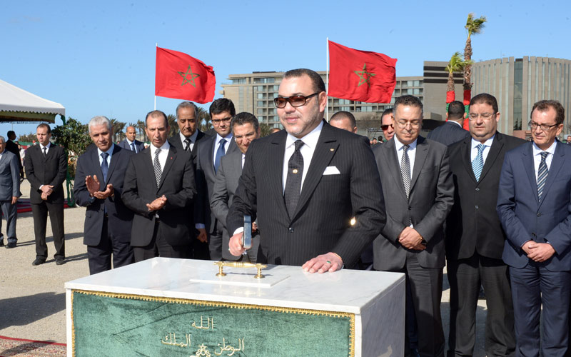 Sa Majesté le Roi lance les travaux de réalisation du Grand Théâtre de Casablanca