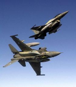 Collision entre deux avions de chasse