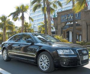 Des Audi A8 avec chauffeurs pour les clients du Hyatt Casablanca