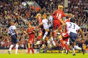 Liverpool chute face à Aston Villa