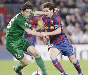 Le FC Barcelone battu à domicile par Rubin Kazan