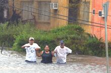 Wilma balaie le Mexique