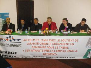 Tanger : Pour professionnaliser le secteur du bâtiment