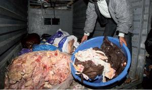 Saisie de 396 tonnes de viandes rouges à fin novembre 2011