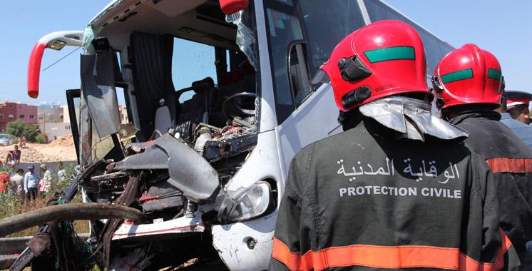12 morts et 39 blessés dans un accident d'autocar près de Khénifra