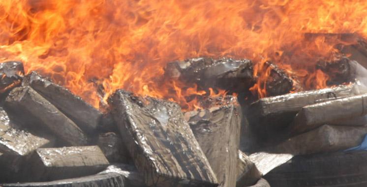 Tanger : destruction d'importantes quantités de drogue et de produits illicites et de contrebande