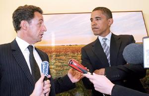Barack Obama s'invite pour la première fois chez Nicolas Sarkozy