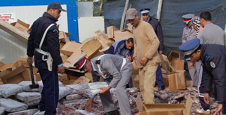 Plus de 3 tonnes de chira saisies au port Tanger Med