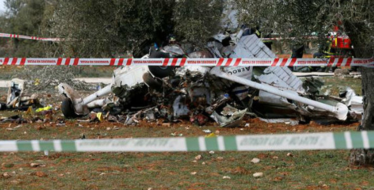 espagne deux morts dans le crash d un avion de tourisme aujourd 39 hui le maroc. Black Bedroom Furniture Sets. Home Design Ideas