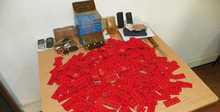 Tanger  : Saisie de comprimés psychotropes, haschich, maâssel et narguilés
