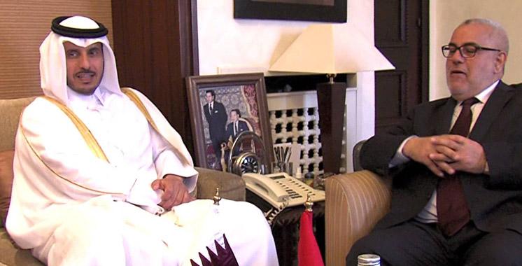 Doha : Benkirane s'entretient avec le Premier ministre et ministre de l'Intérieur du Qatar