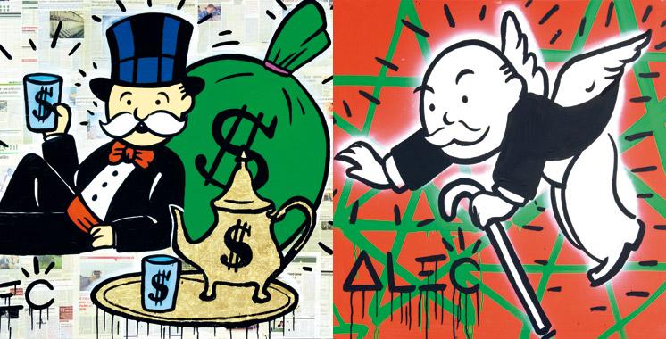 Alec Monopoly  à la Galerie 38: La vedette du Street Art fait escale à Casablanca
