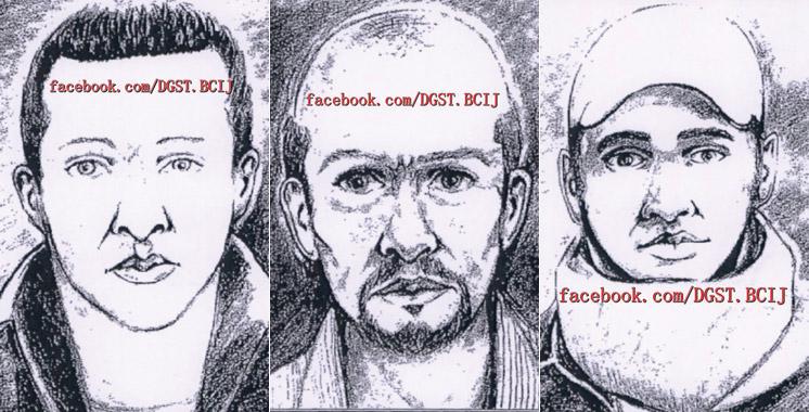 Terrorisme : portraits-robots des trois algériens complices du Tchadien