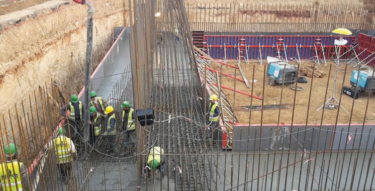 Projet de construction du pont à haubans au niveau du carrefour Sidi Maarouf: Un retard de deux mois, mais  ça commence bien !