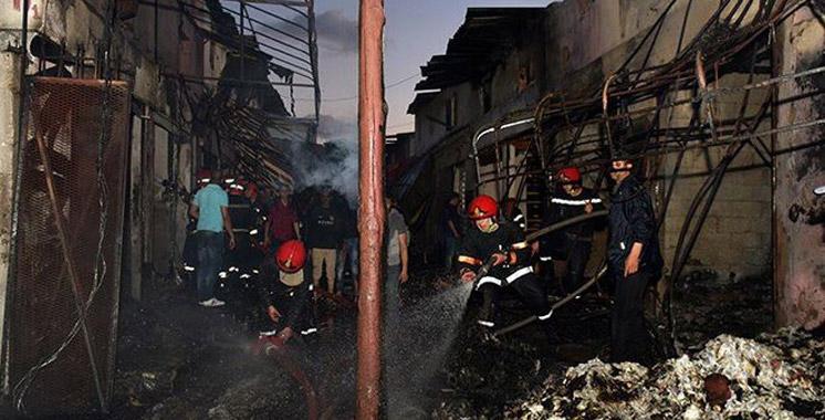 Vidéo : un nouvel incendie ravage le souk Koréa à Casablanca