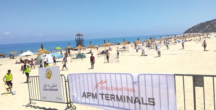 Grâce au soutien d'APM Terminals Tangier: La plage de Oued Aliane  labellisée «Pavillon bleu»