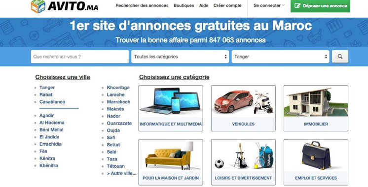Le site Avito.ma atteint la barre d'un million d'annonces actives