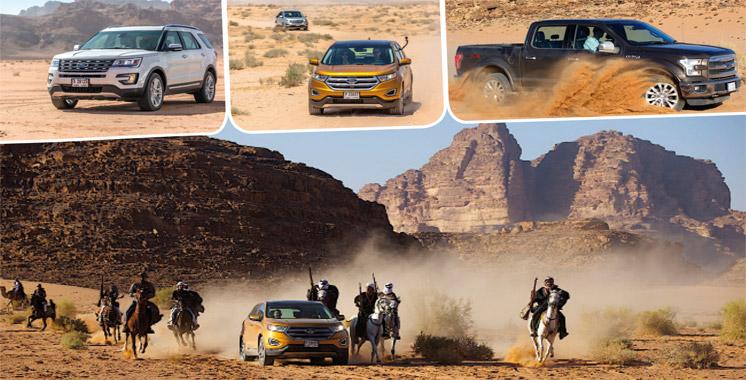 Essais Ford en Jordanie : Sur les traces de Lawrence d'Arabie…